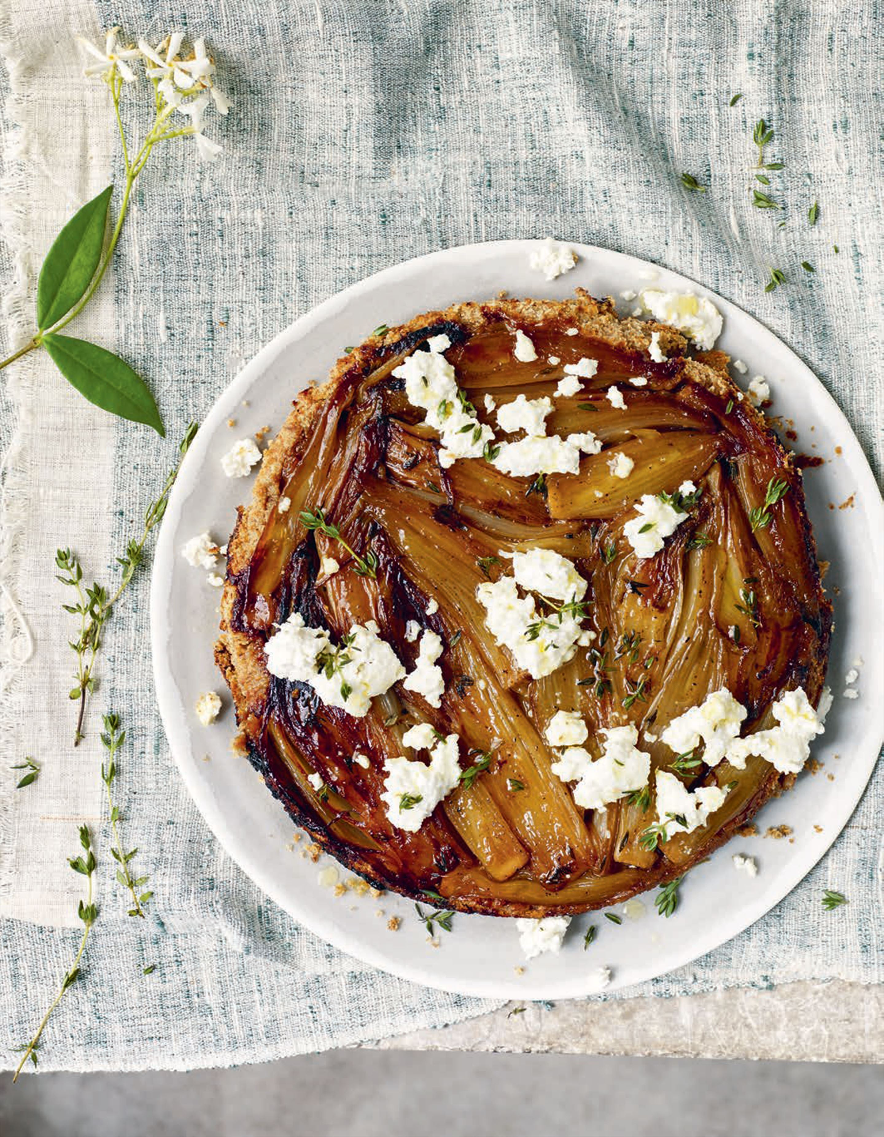 Chicory and shallot tarte Tatin
