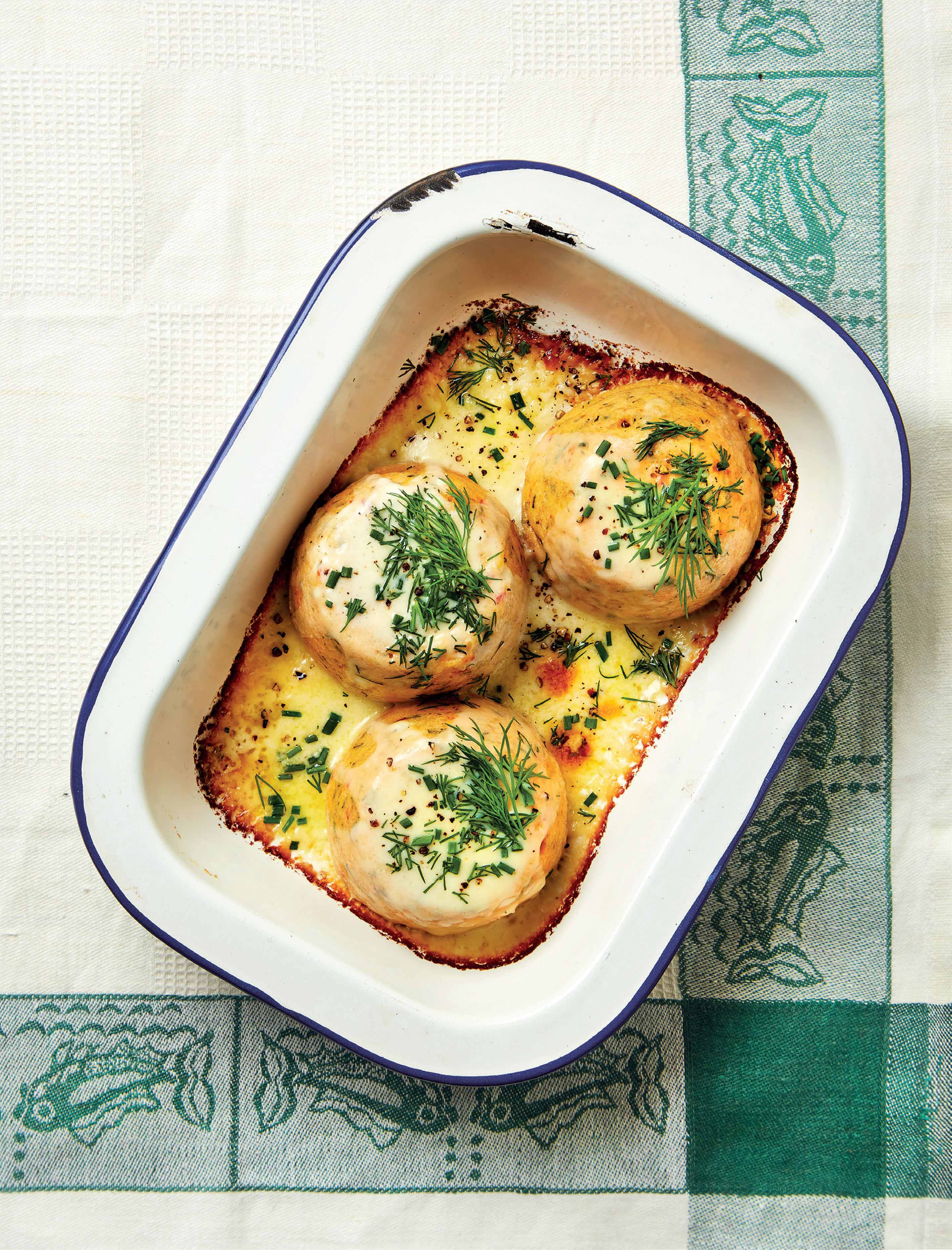 Twice-baked crab soufflés