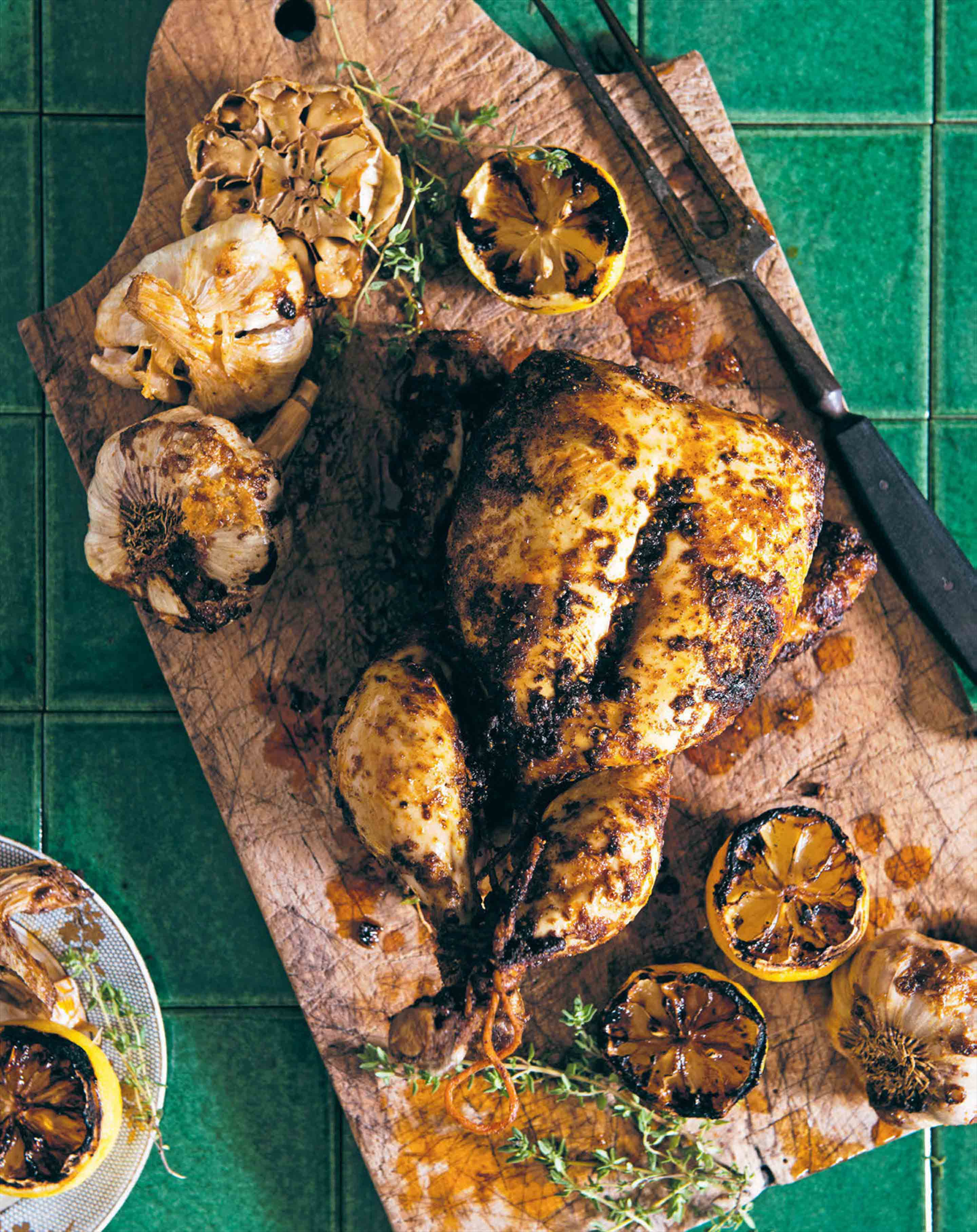 Roast chicken with harissa & preserved lemon