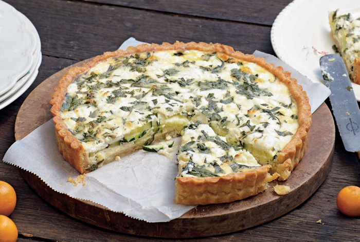 cheese in a quiche