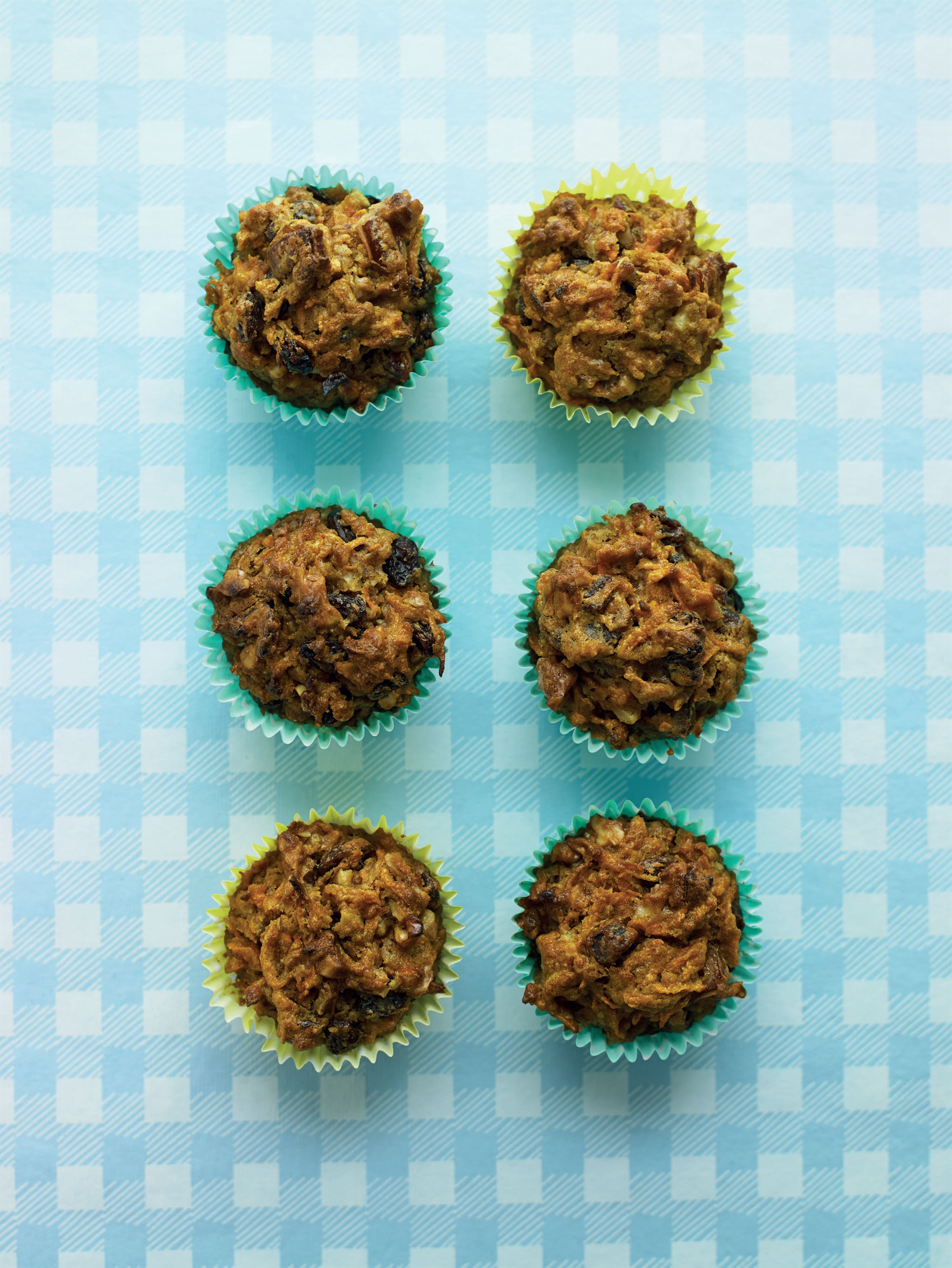 Spiced carrot and date muffins