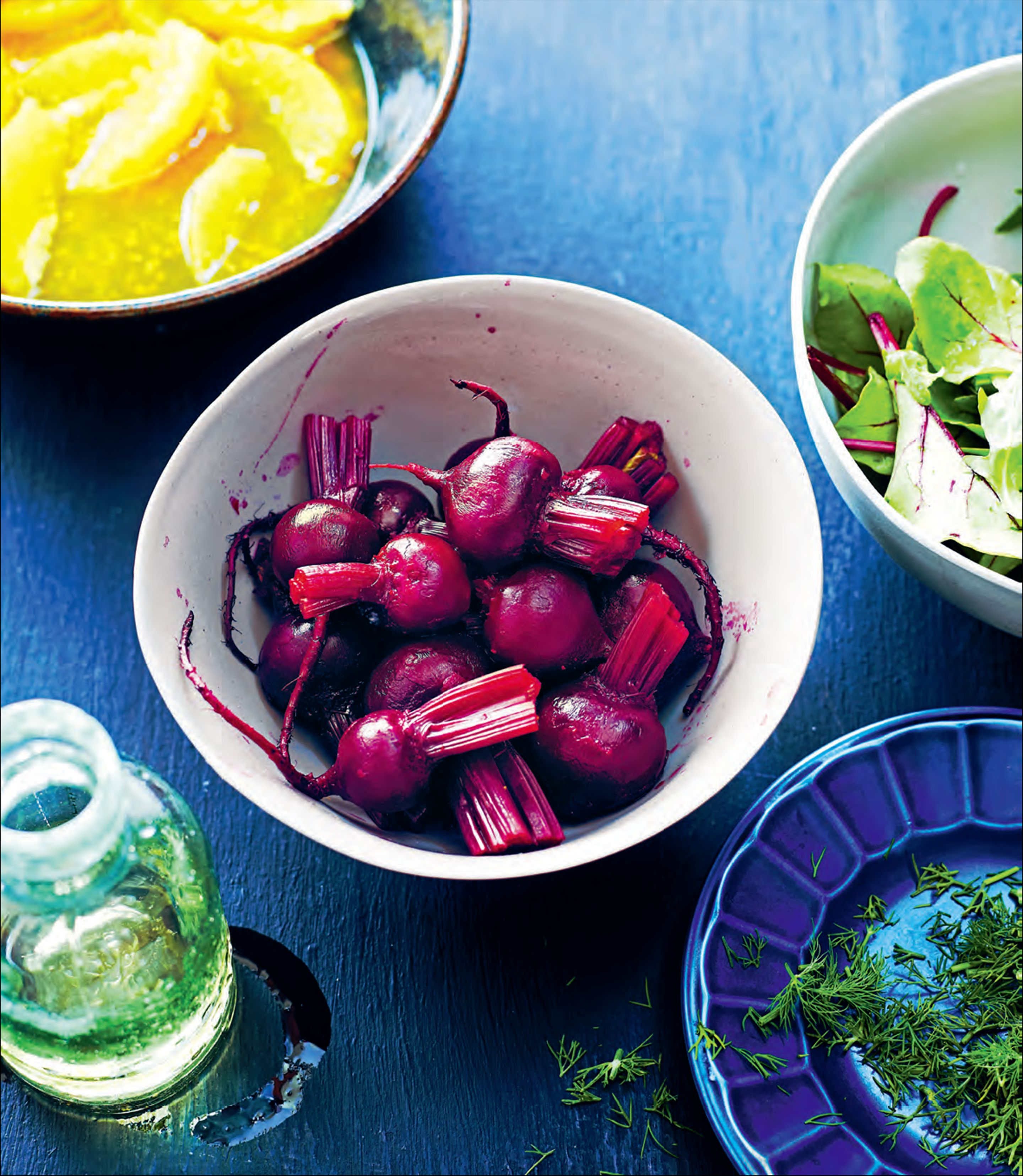 Baby beetroot and orange salad
