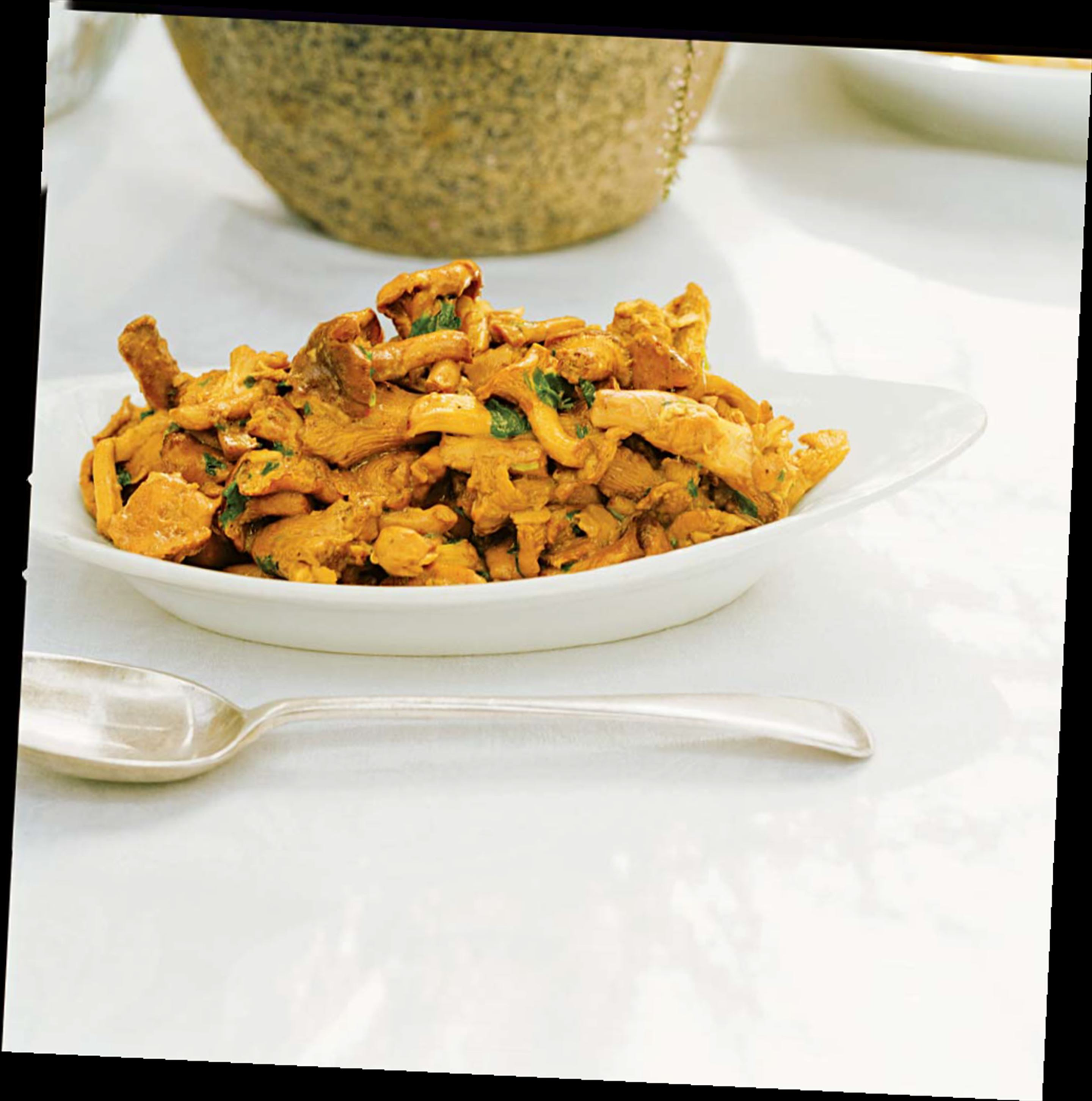Pan-fried girolles