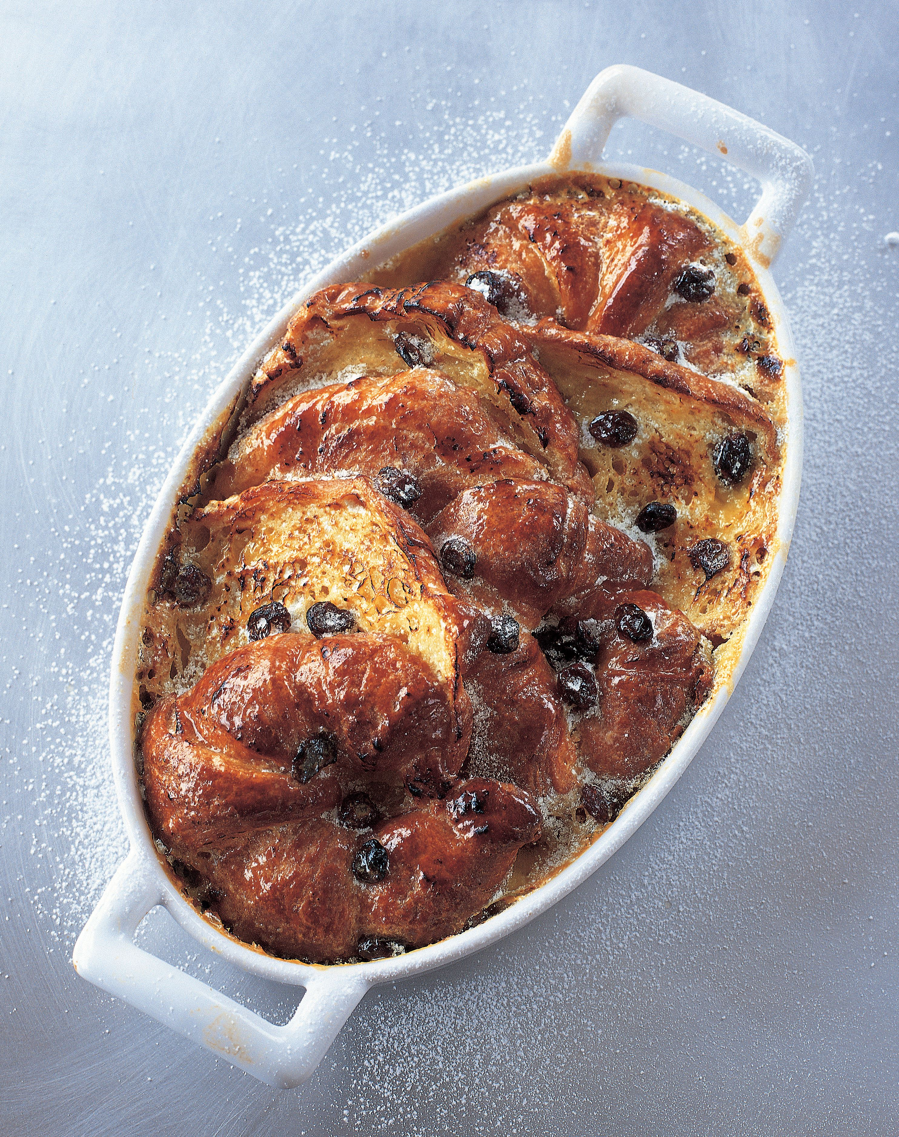 Croissant butter pudding