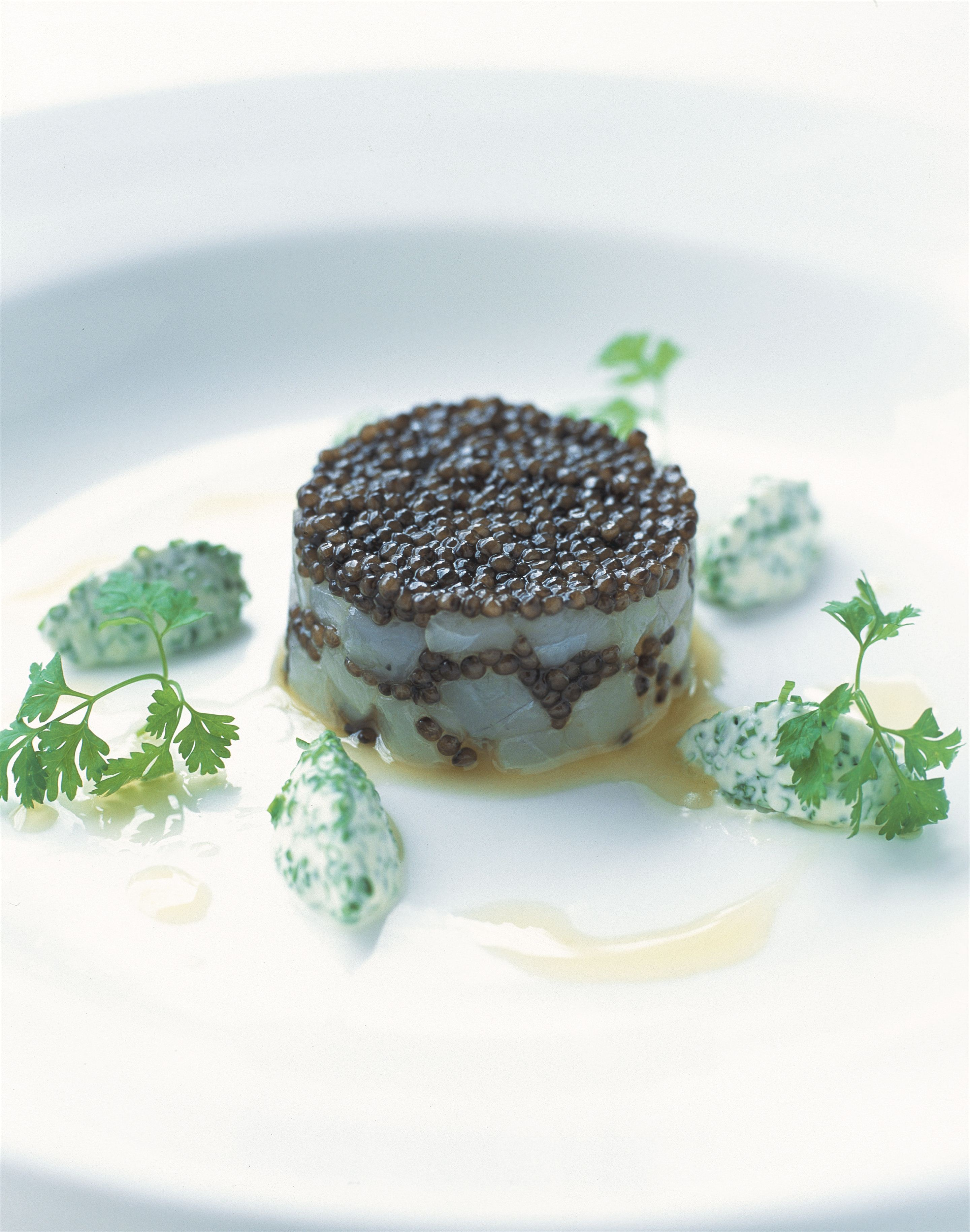 Tartare of mulloway with lranian osietra caviar and chive crème fraîche