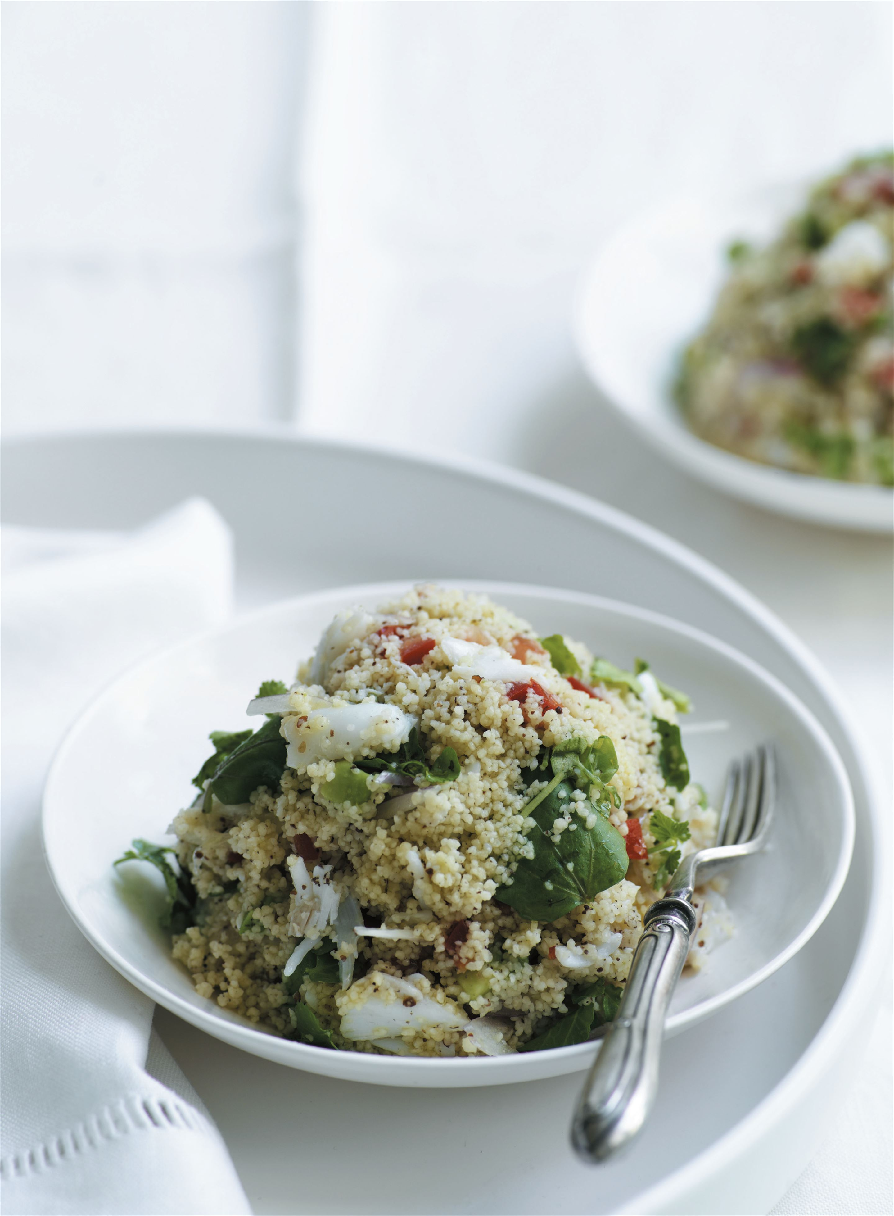 Crab and couscous salad