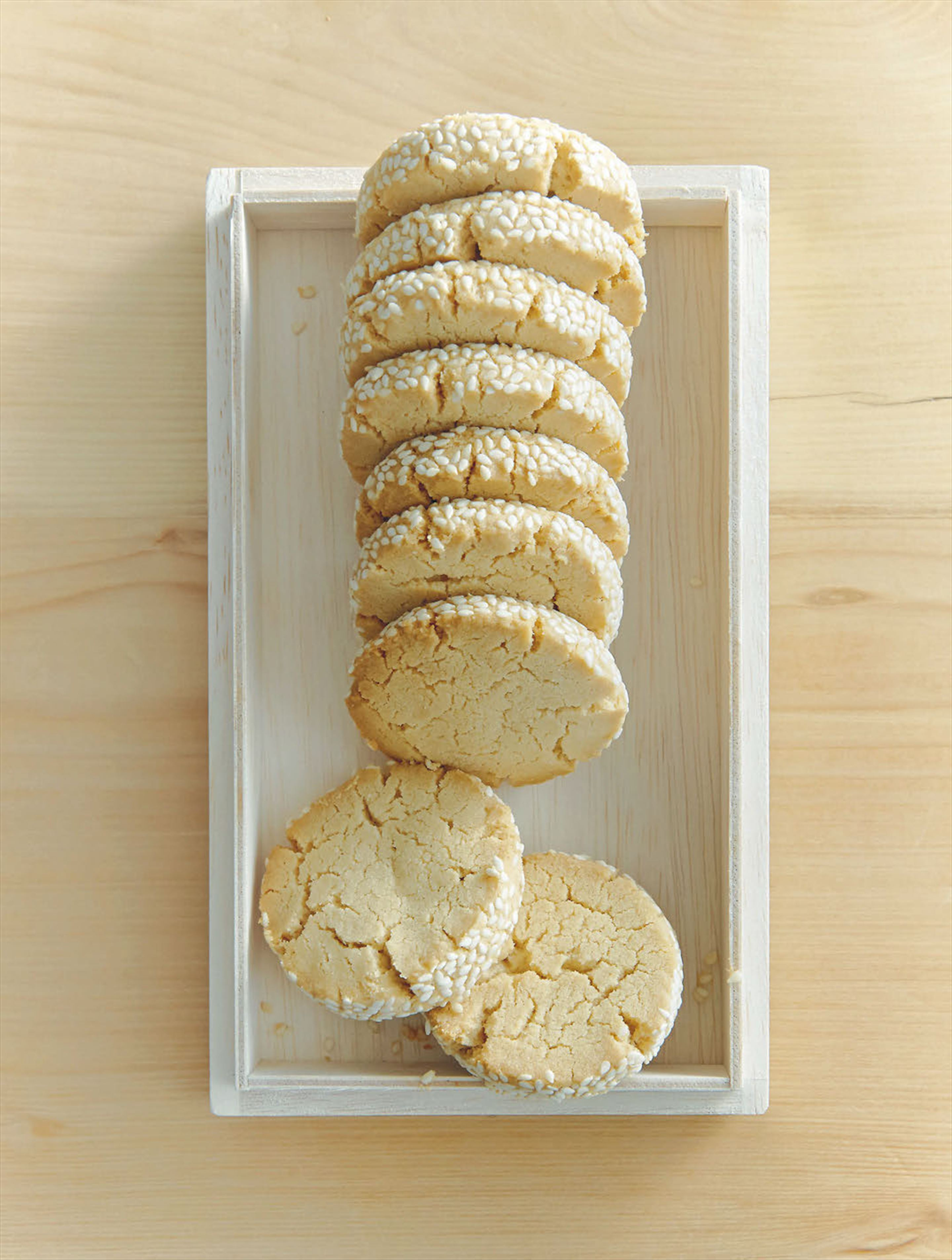 Peanut and sesame cookies