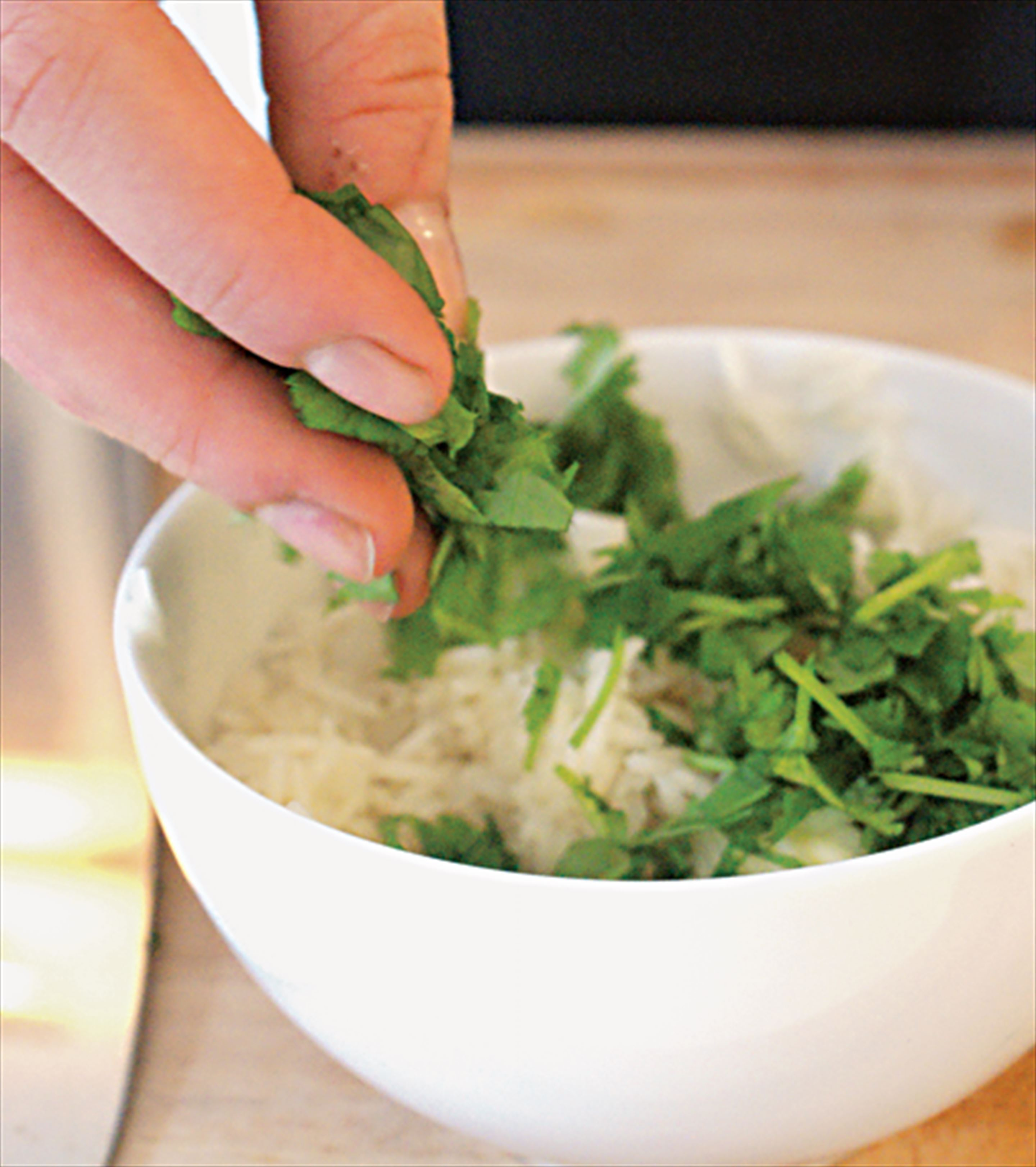 Buttered basmati with coriander