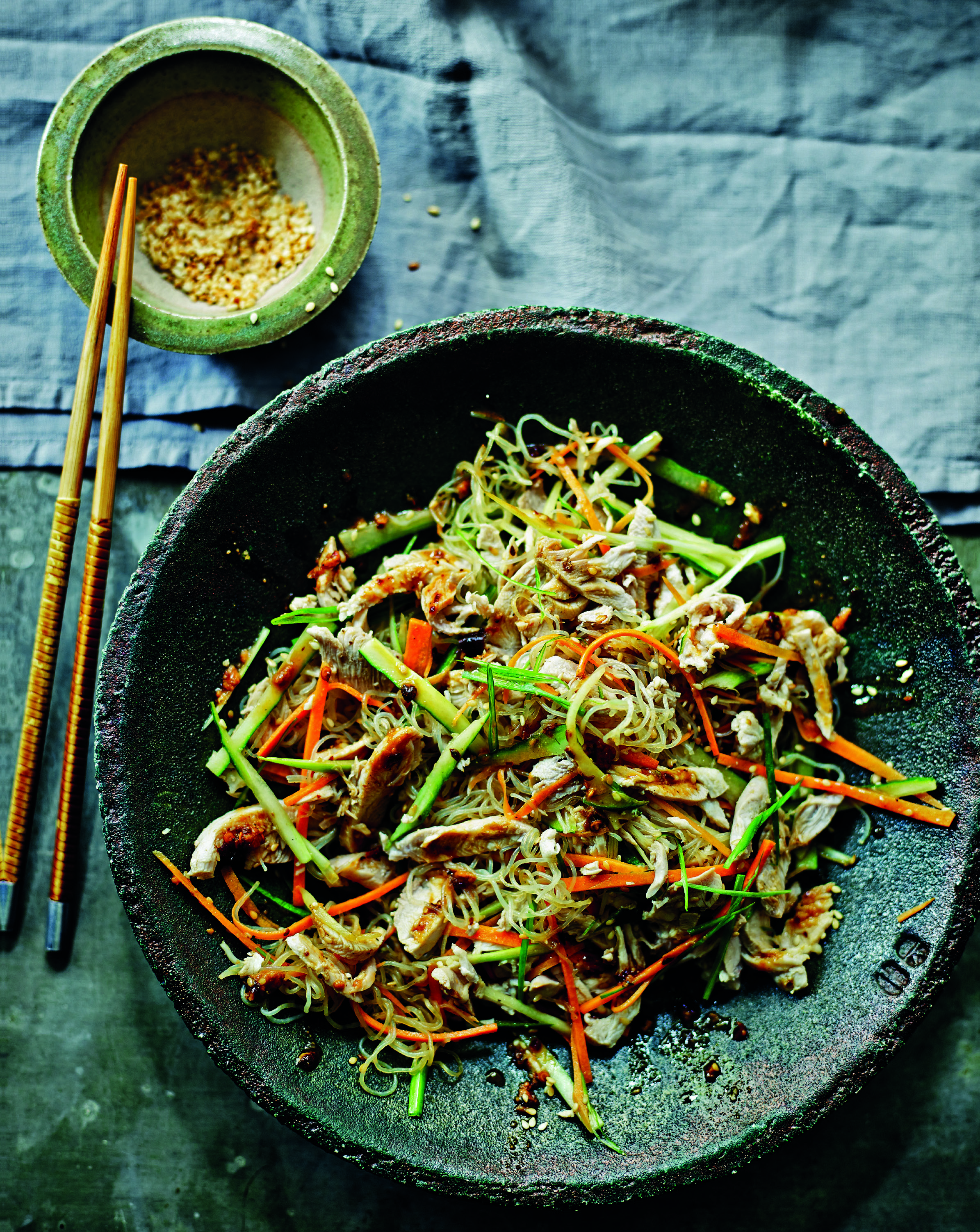 Glass noodle chicken salad
