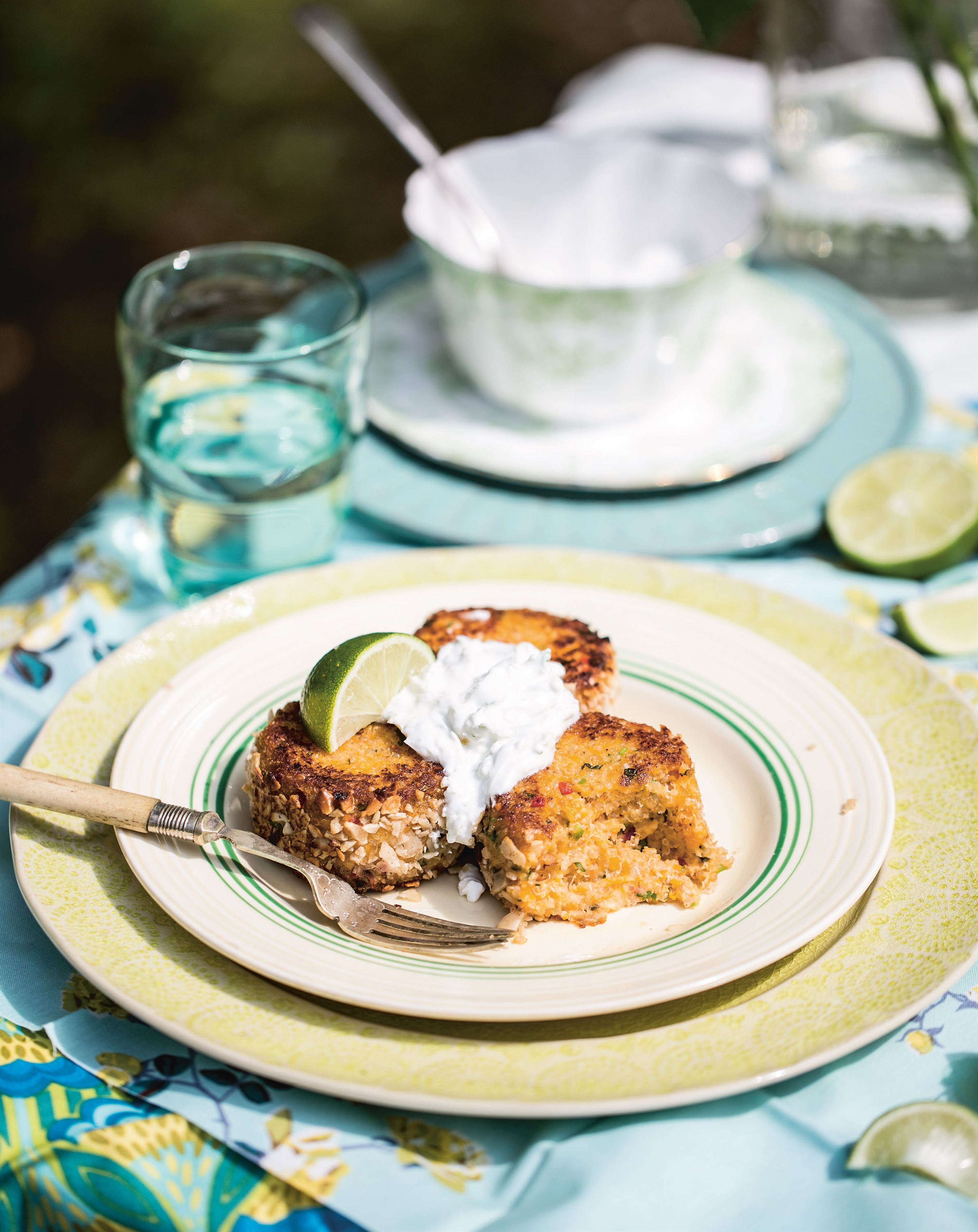 Quinoa and butternut squash cakes