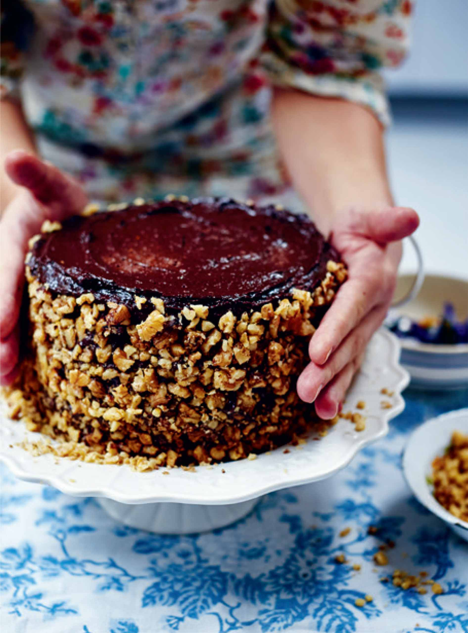 Boozy chocolate and walnut torte