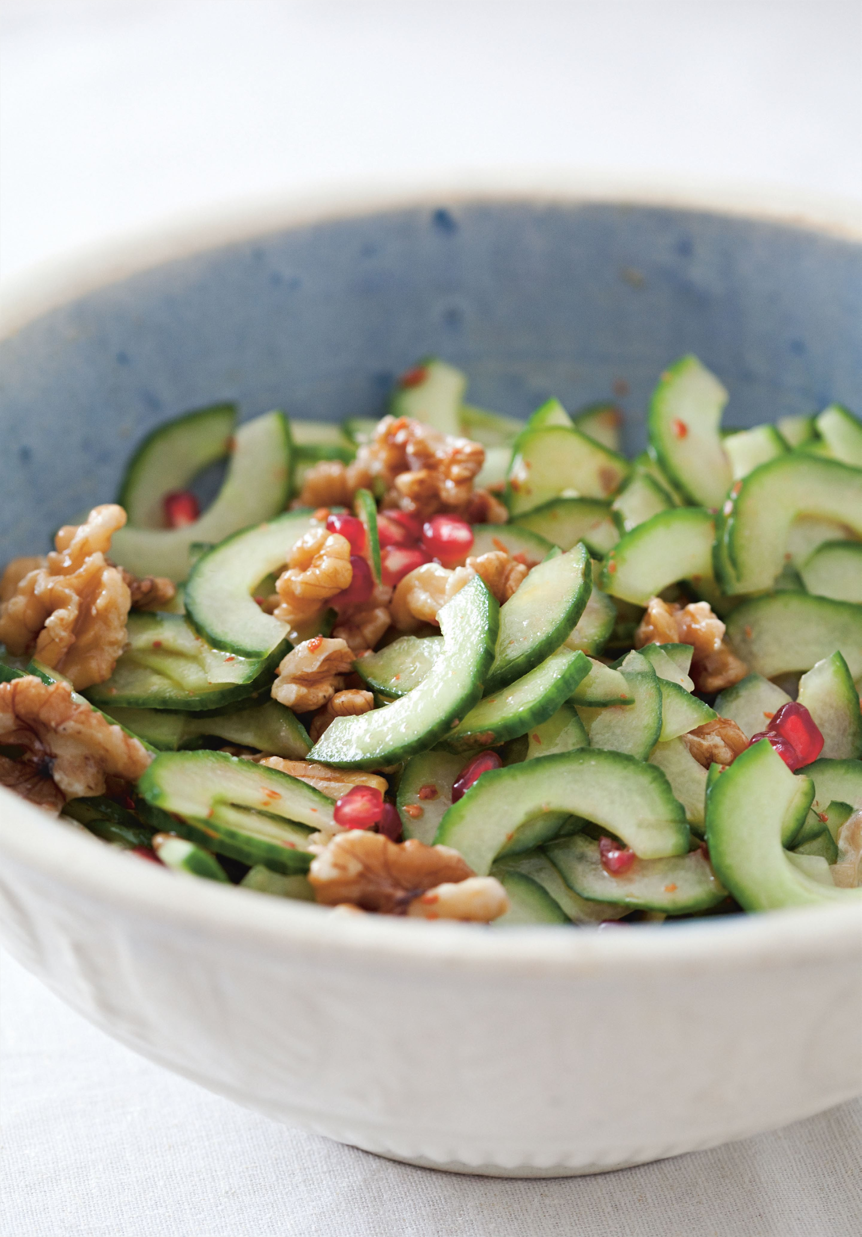 Cucumber and walnut salad