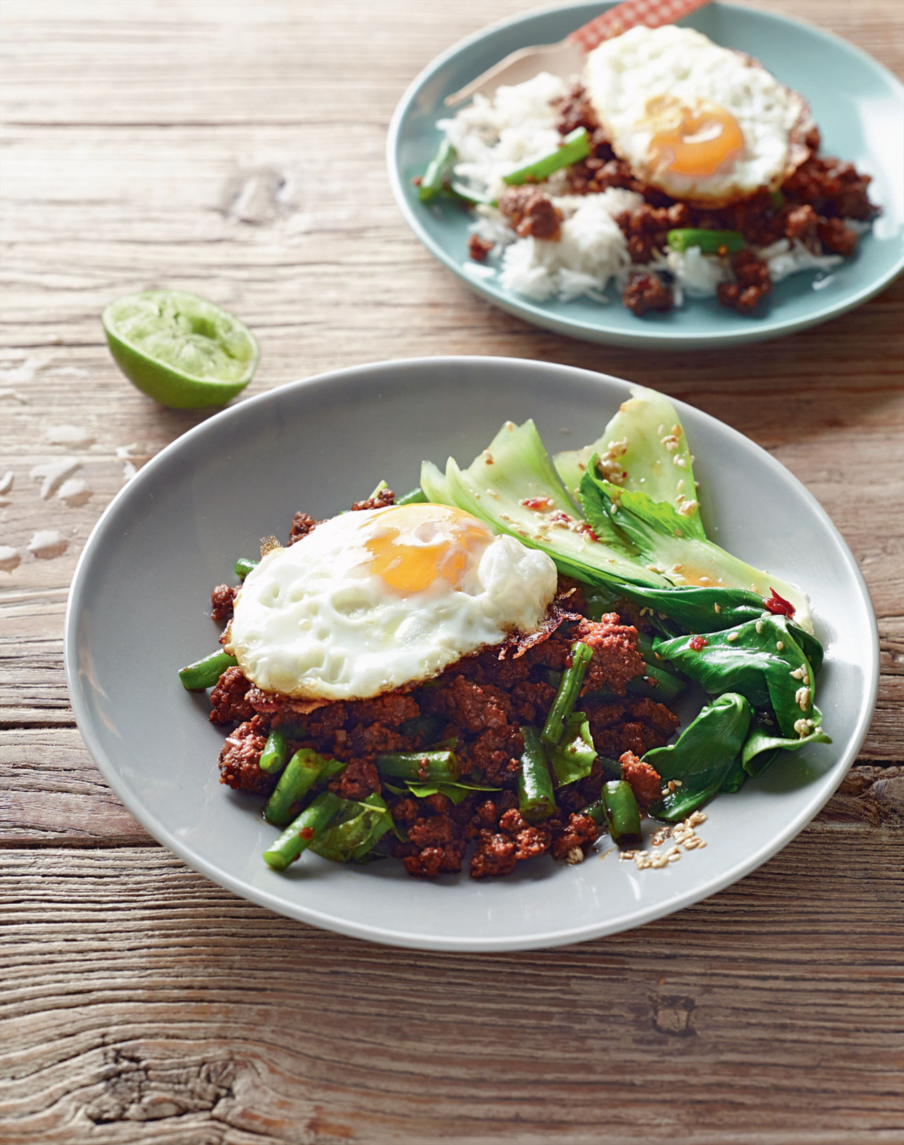 Thai pork and fried egg