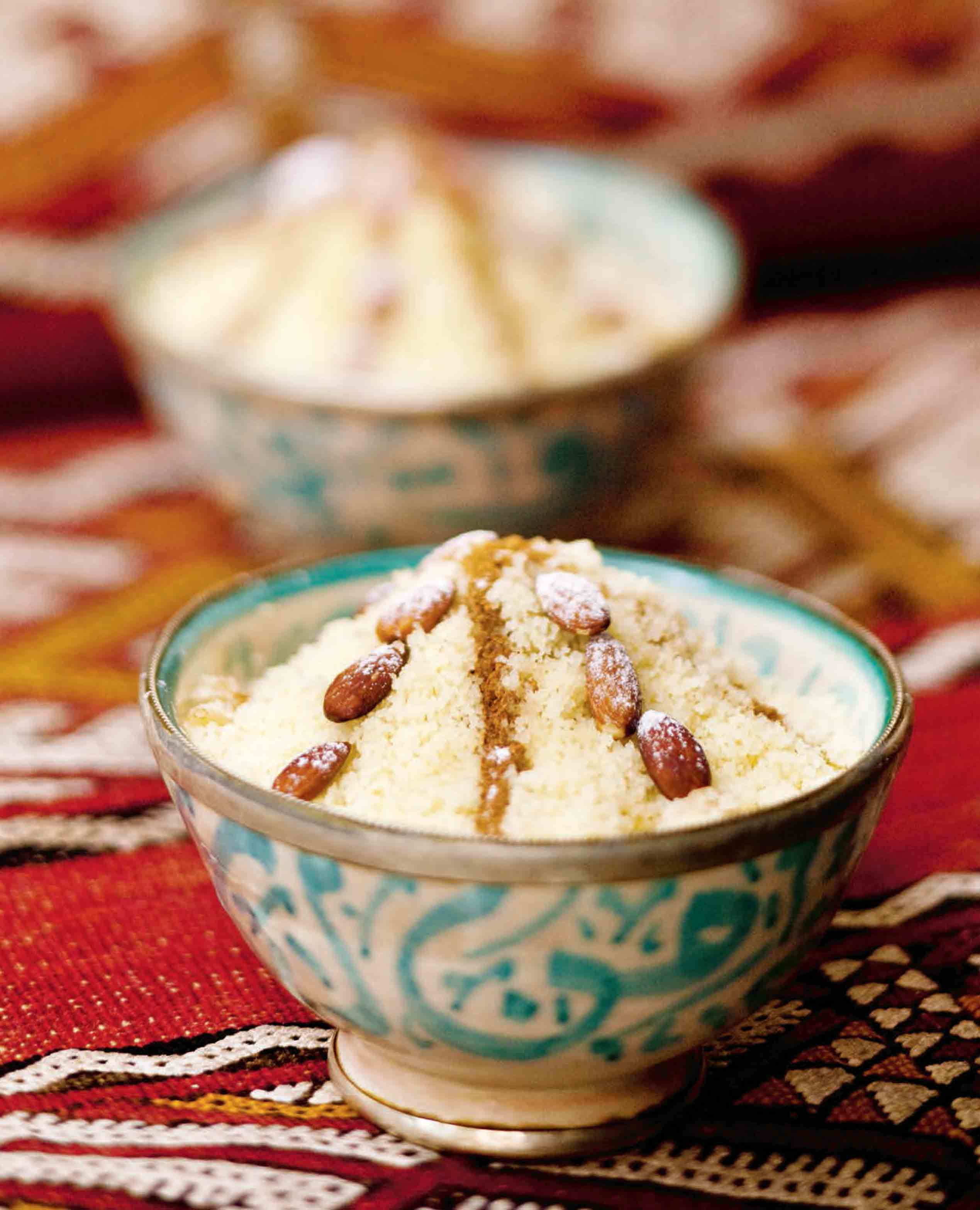 Dessert couscous with sultanas
