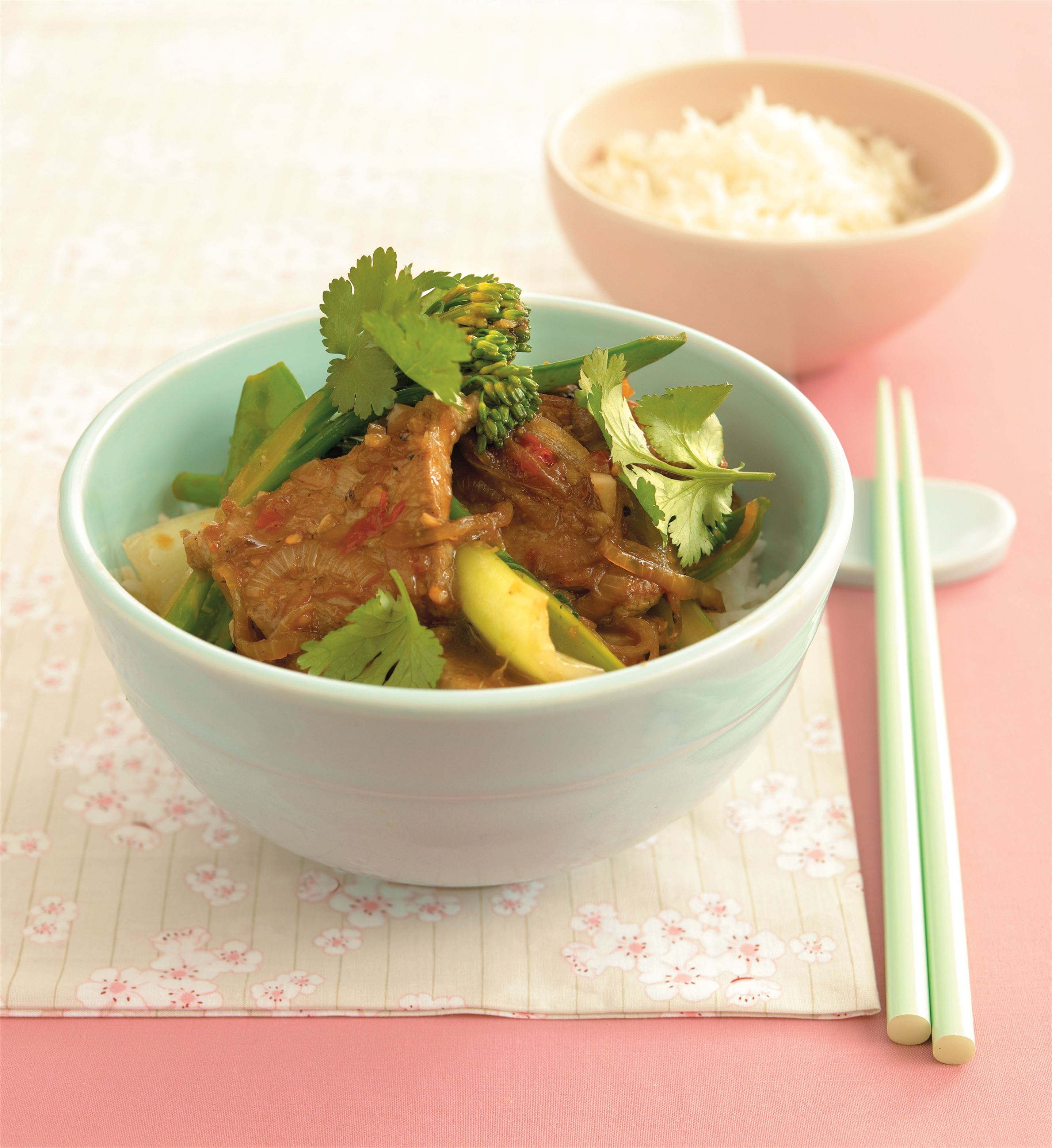 Pork and Asian greens stir-fry