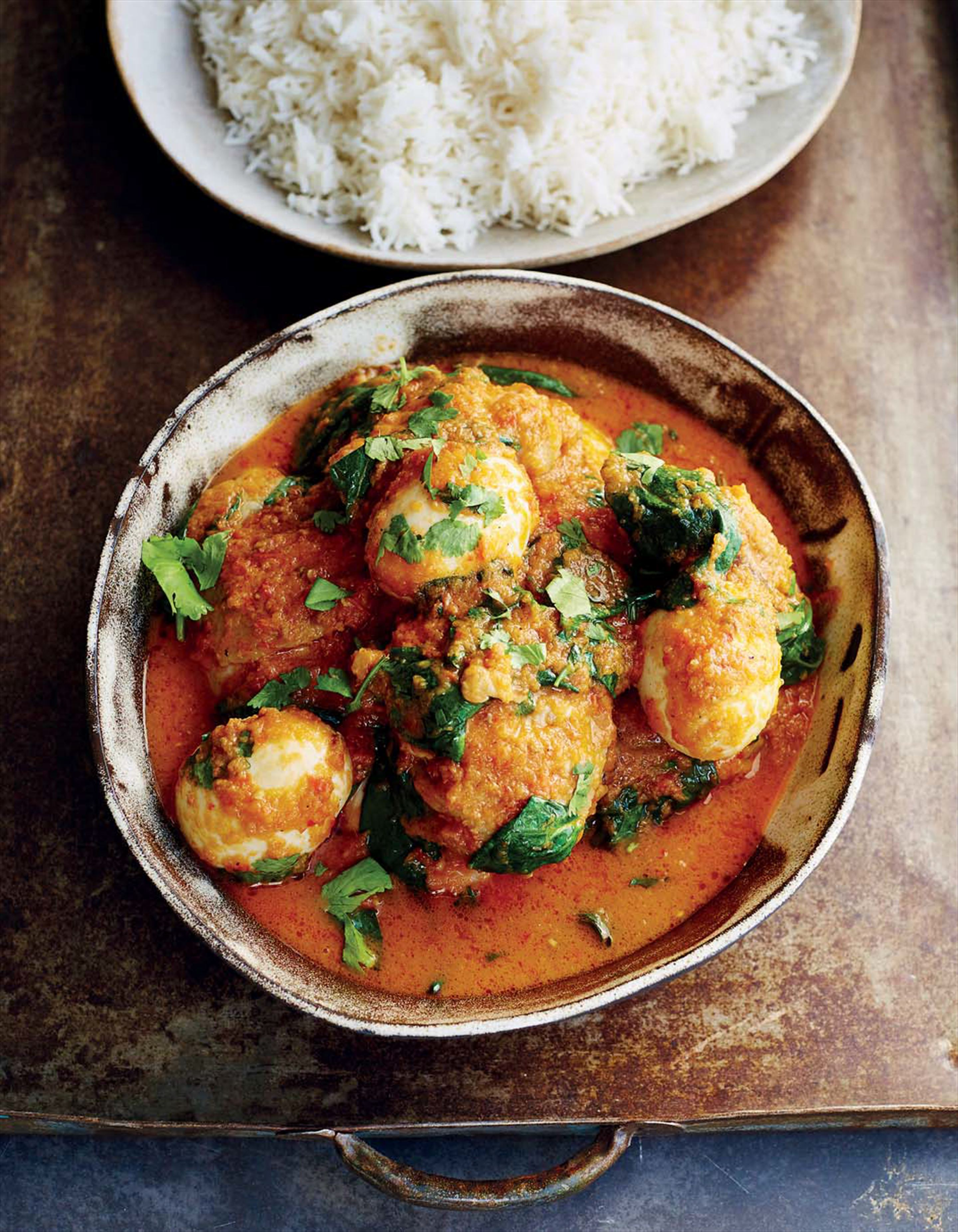 Chicken and egg curry