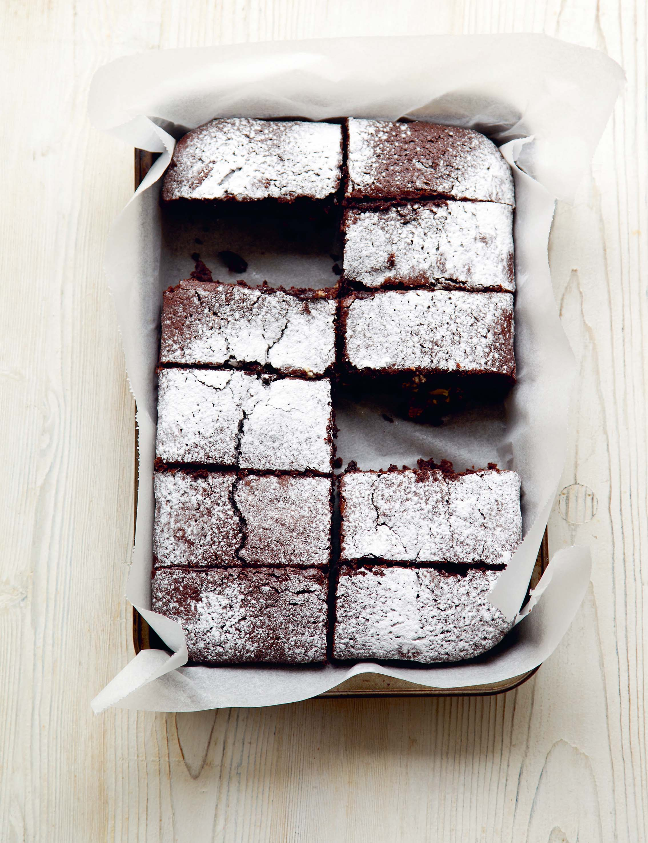 Lucy's chewy chocolate brownies