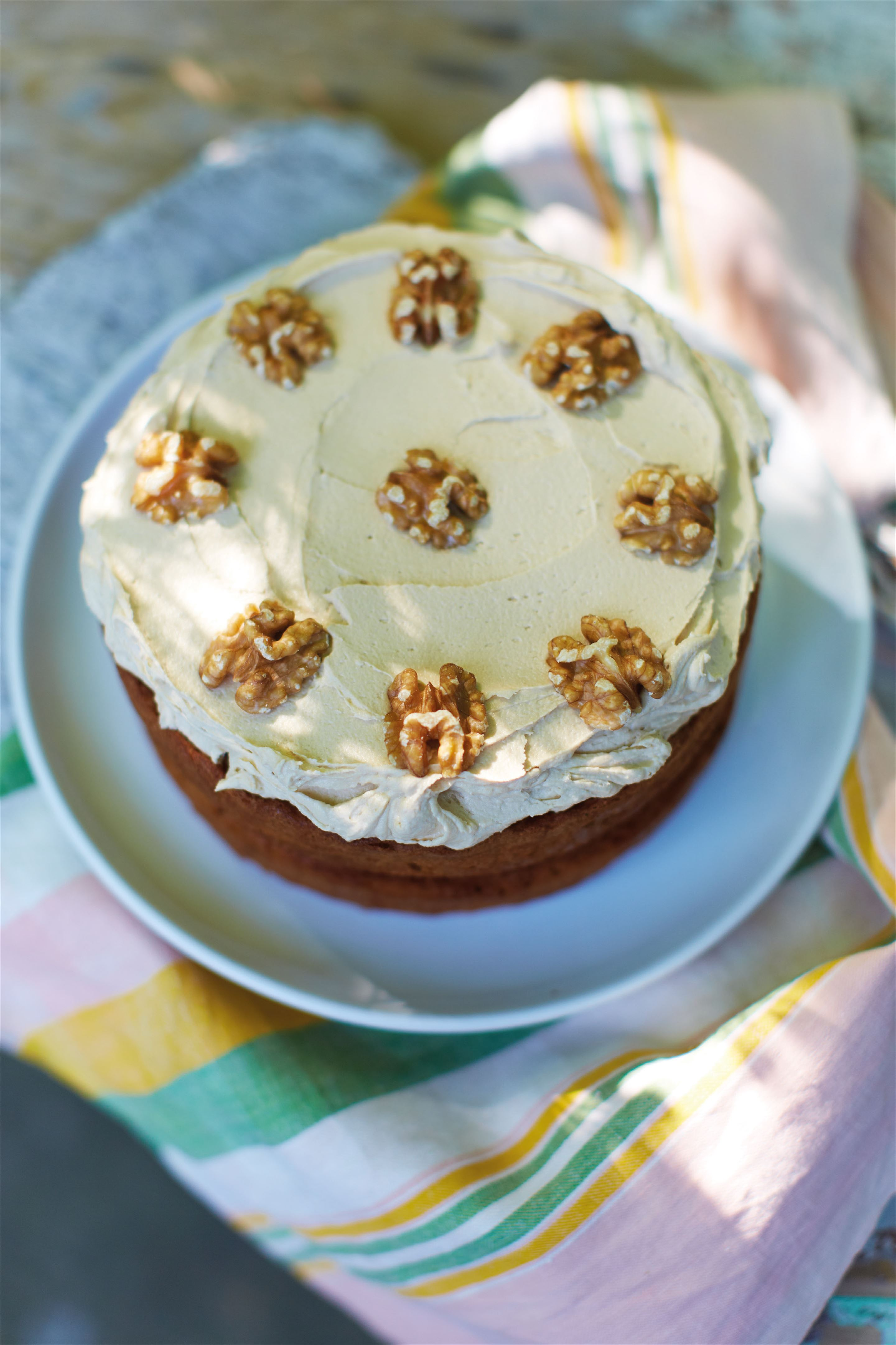 My mum's classic 1970s coffee and walnut cake