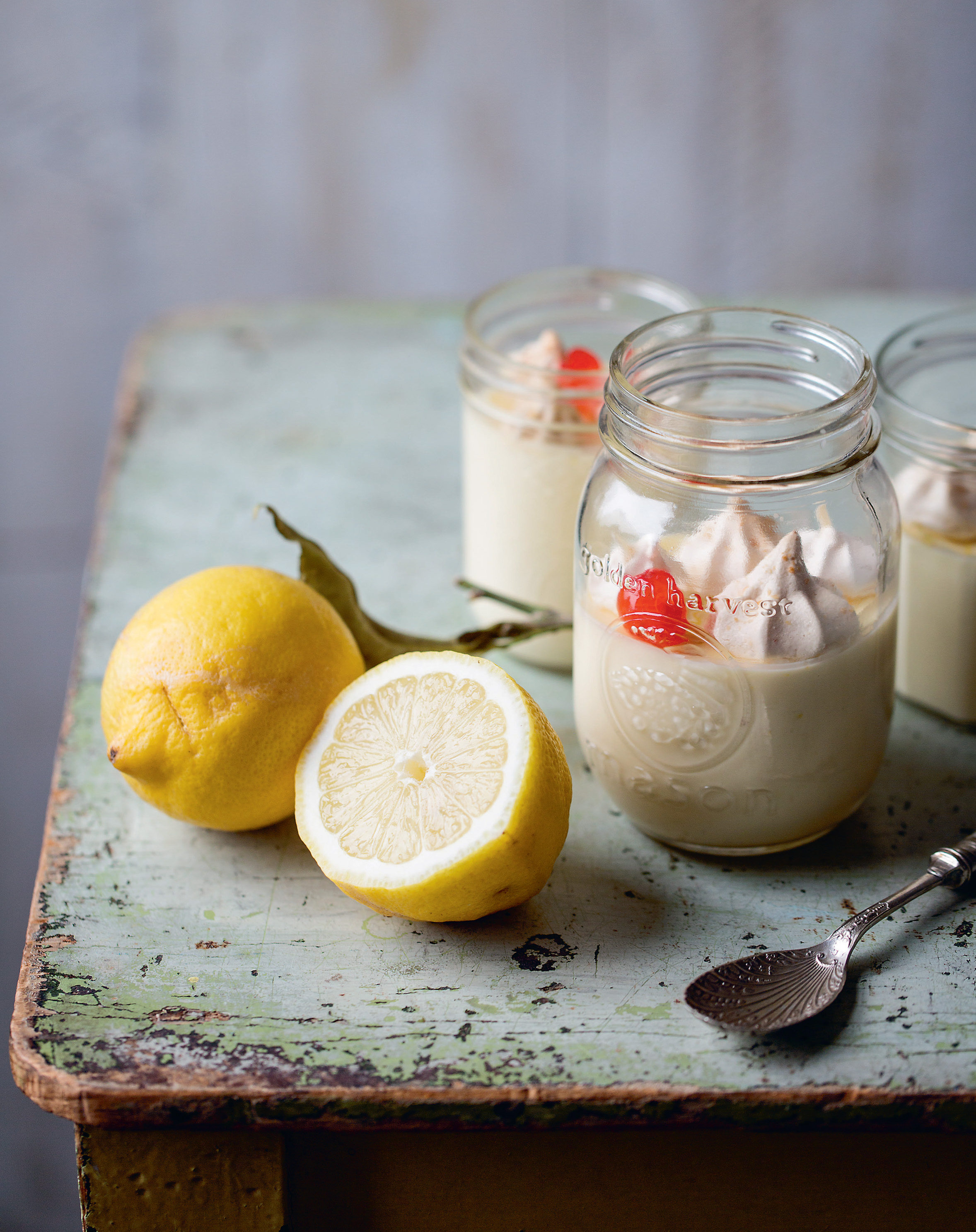 Lemon meringue posset