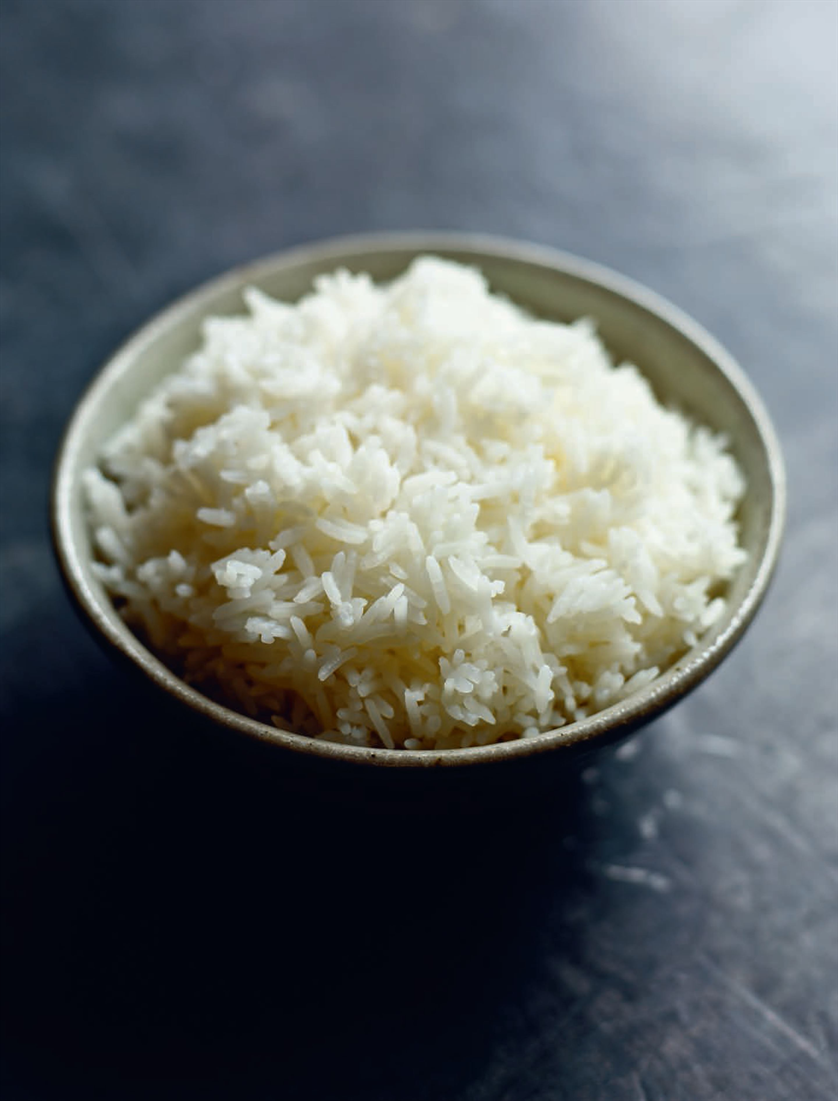 Plain white rice