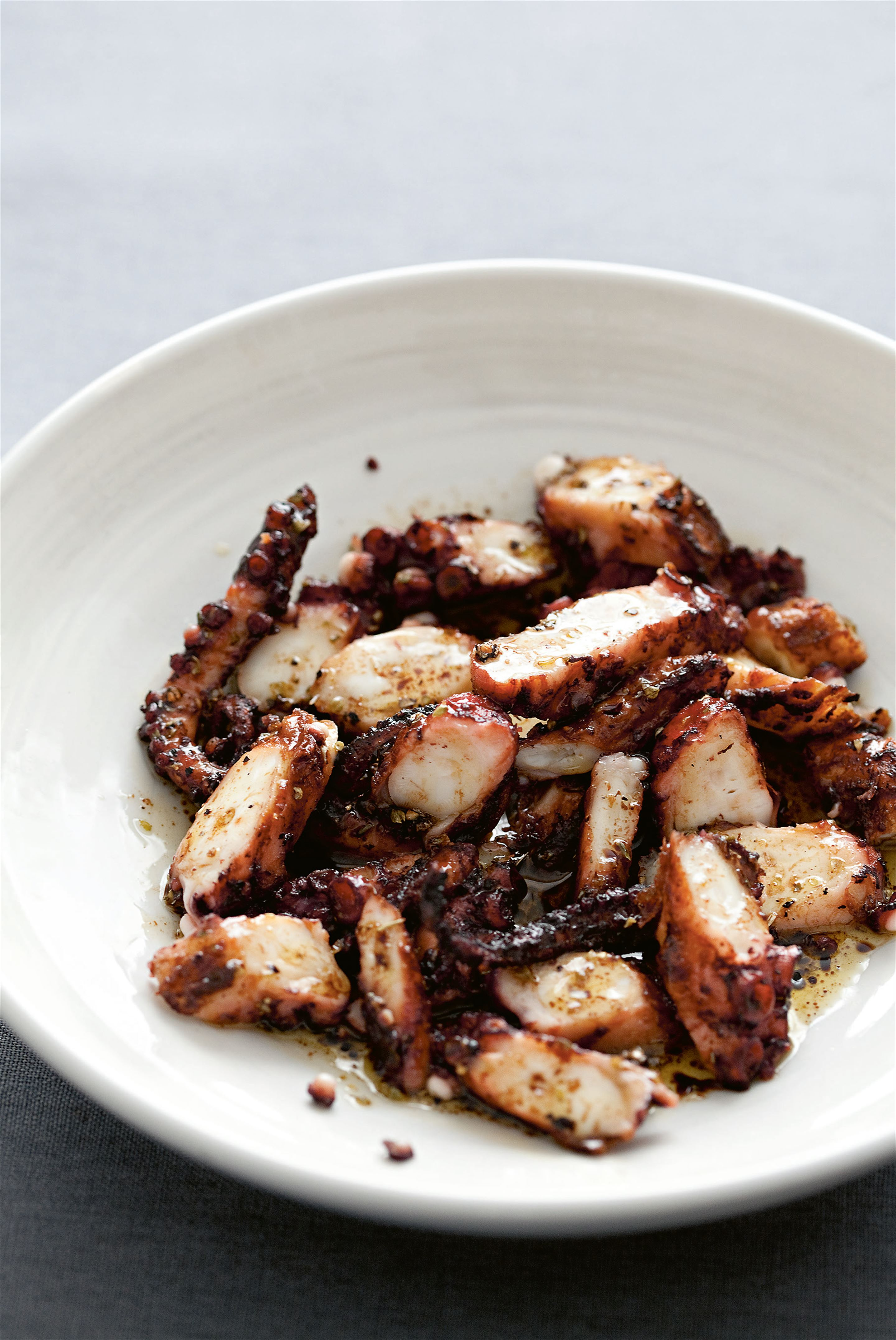 Chargrilled octopus