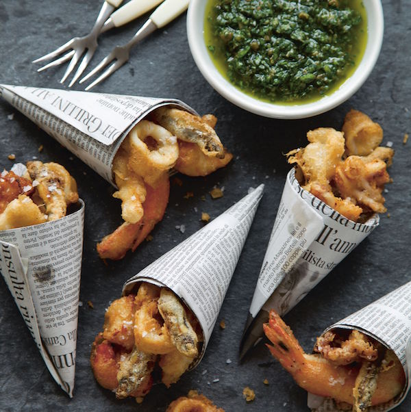 Mini fritto misto cones